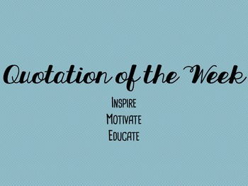 Quotation of the Week Speaking Activity