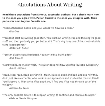 Quotations About Writing