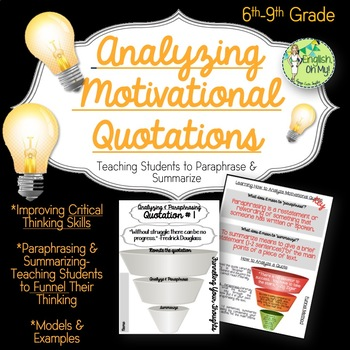 Paraphrasing & Summarizing-Critical Thinking, Quotations