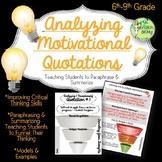 Paraphrasing & Summarizing-Critical Thinking, Quotations