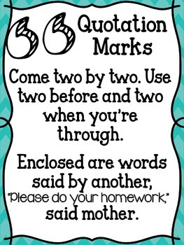 Quotations Anchor Chart
