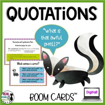 Quotations Digital Task Cards (Boom Cards)