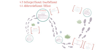 Quotations, Interjections, Abbreviations, and Titles Prezi Presentation