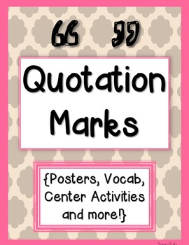 Quotations: Posters, Vocab, Center Activities and More!