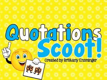Quotations Scoot Game