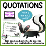 Quotations Task Cards and Activities - Includes Digital Bo