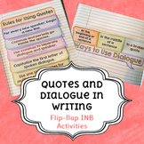Quotations and Dialogue in Writing Flip-Flaps