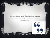 Quotations and Quotation Marks PowerPoint