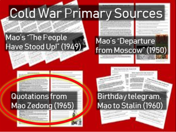 Quotations from Mao Zedong - Cold War Primary Source w guiding Qs