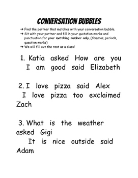 Quotation Marks - Conversation Bubbles
