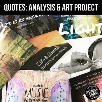 Quote Analysis & Artwork Project: Showing Meaning in Literature