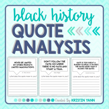 Quote Analysis: Black History