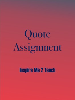 Quote Assignment