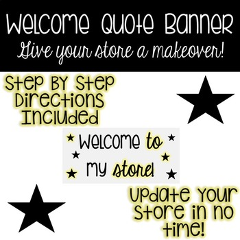Quote Banner - Welcome to my store