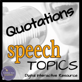 Impromptu Speech Activity Using Quotations