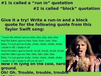 Quote Blending Lesson