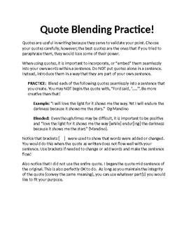 Quote Blending/ Quote Integration