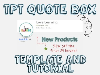 Quote Box Template and Tutorial