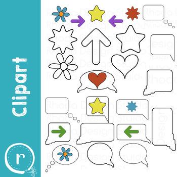 Quote Bubbles and Symbols Clip Art (RDS Clipart)