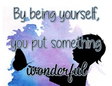 Quote: By Being Yourself WATERCOLOR POSTER