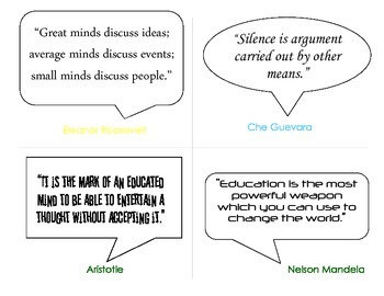Quote Cards to Promote Discussion and Writing