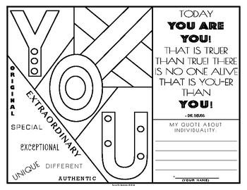 Quote & Color: Dr. Seuss Quote #1