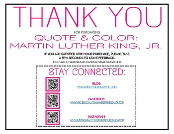 Quote & Color: Martin Luther King, Jr. BUNDLE!
