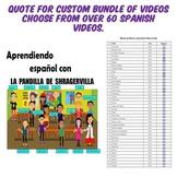 Quote Custom Bundle Spanish Transition Videos