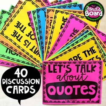 Quote Discussion Cards - 40 Thought Provoking Questions