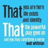 Quote Icons - Walt Whitman