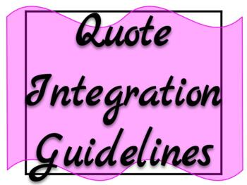 Quote Integration Guidelines & Guided Notes