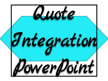 Quote Integration PowerPoint Presentation