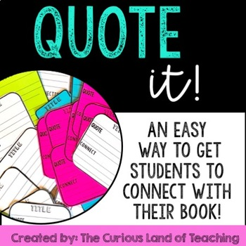 Quote It!- Reading Accountability
