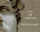 Quote- Michelangelo Inspirational Quote poster