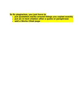 Quote, Paraphrase, Summarize, Plagiarize Basic Notes & Examples