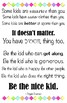 """Quote Poster - Be the nice kid (11"""" x 17"""")"""