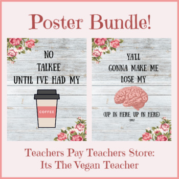 Quote Poster Bundle Coffee & Lose My Mind