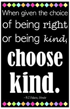 """Choose Kind (11"""" x 17"""") Quote Poster"""