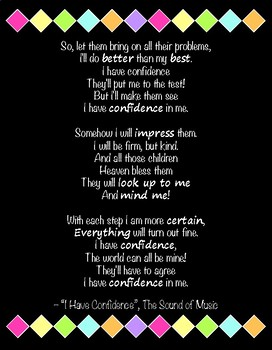 Quote Poster - I Have Confidence