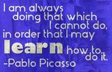 Quote Poster - Pablo Picasso
