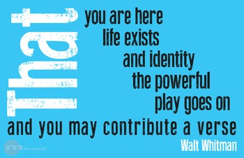 Quote Poster - Walt Whitman