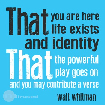 Quote Icons - Walt Whitman