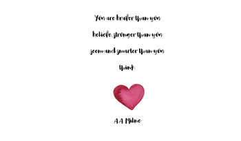 Quote Poster: You are braver than you believe