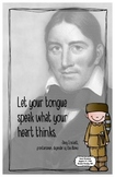 Quote Poster with Davy Crockett
