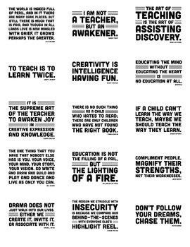 Quote Posters (21 Inspirational Quotations in Color and Black & White)