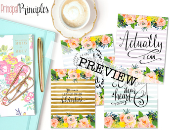 Quote Posters- Floral and Watercolor
