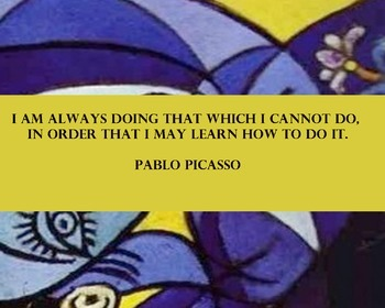 Quote Posters- Picasso