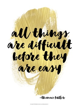 Quote Posters to Encourage and Inspire {36 Signs in Splashes of Gold}