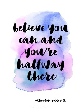 Quote Posters to Encourage and Inspire {36 Signs in Watercolor}