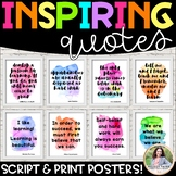 Quote Posters to Encourage and Inspire {Learning, Hard Work, Self-Confidence}